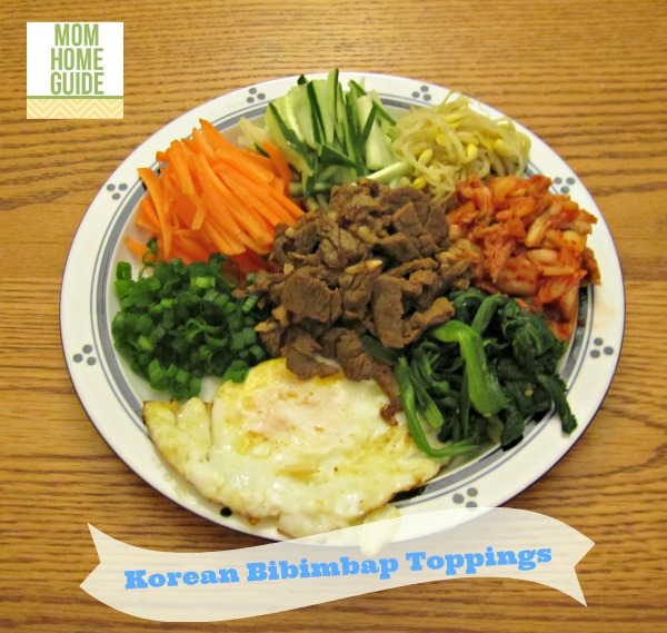 korean bibimbap toppings