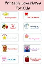 printable valentine's day love notes for kids