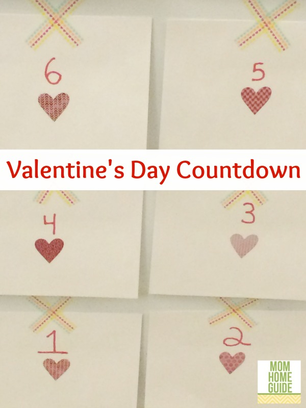 valentines day, countdown, washi tape, envelopes