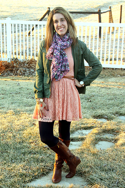 lace dress for winter