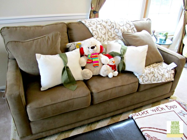winter living room sofa
