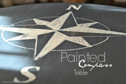 DIY coastal compass table