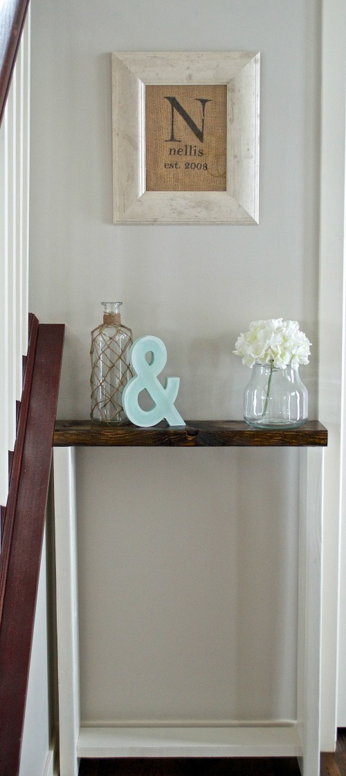 DIY entryway skinny table