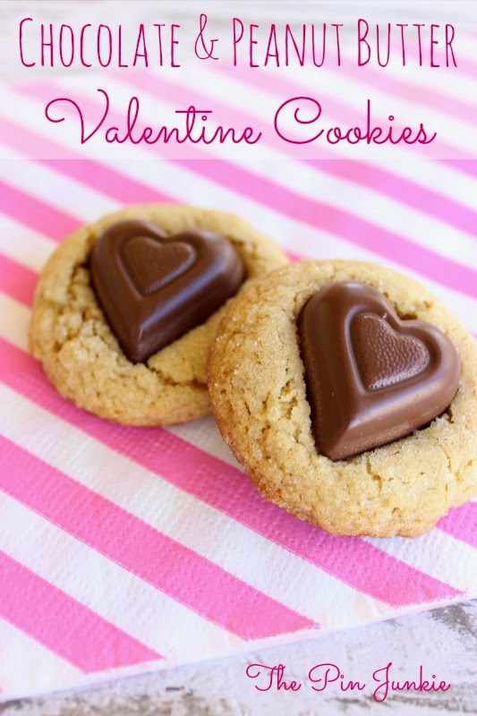 peanut butter valentine cookies