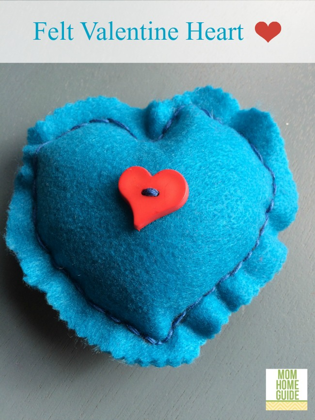 felt heart for valentines day