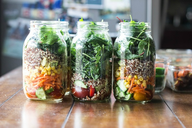 Mason Jar salads by MJ and Hungryman