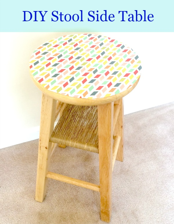 DIY stool side table