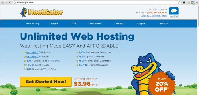 Main Page - HostGator