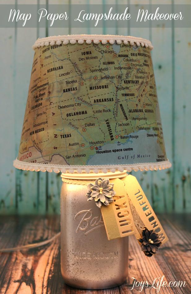 map paper lamp shade
