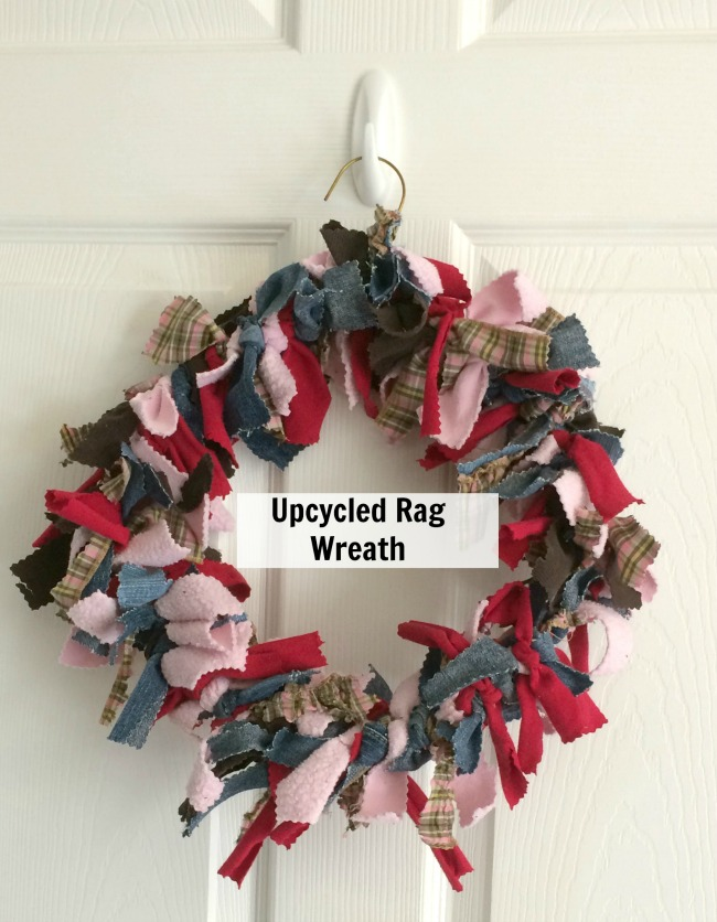upcycled rag wreath tutorial