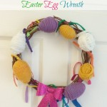 Yarn-Wrapped Easter Egg Wreath