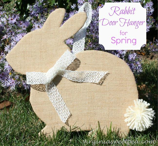 rabbit door hanger for spring and easter