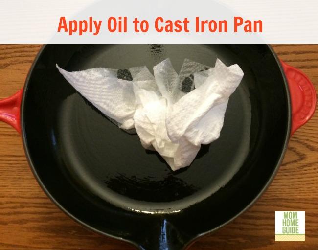 oil cast iron pan