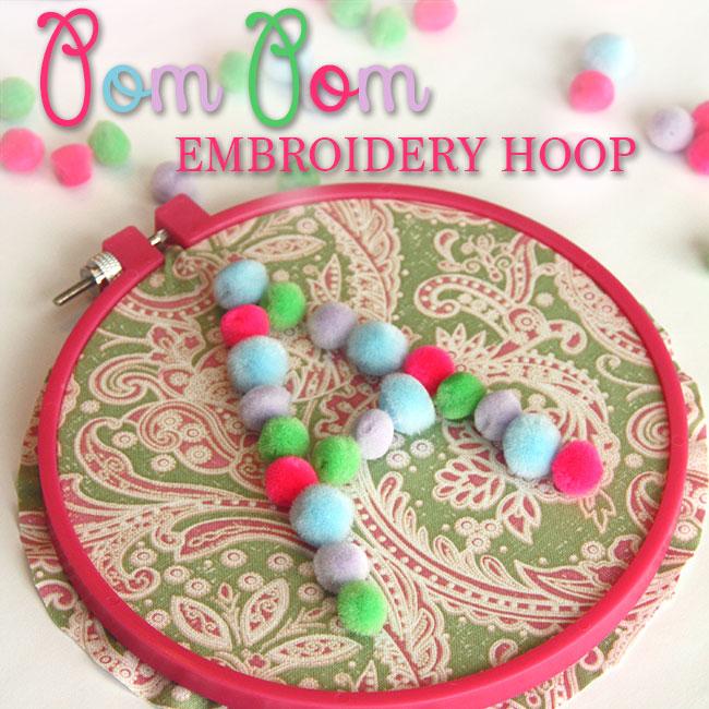 pom  pom embroidery hoop