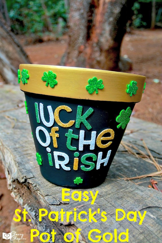 St. Patrick's pot of gold craft