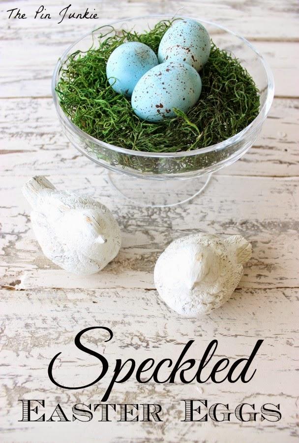 DIY craft speckled Easter eggs