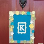 May Flowers Door Monogram