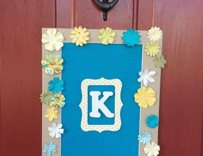 May Flowers Door Monogram