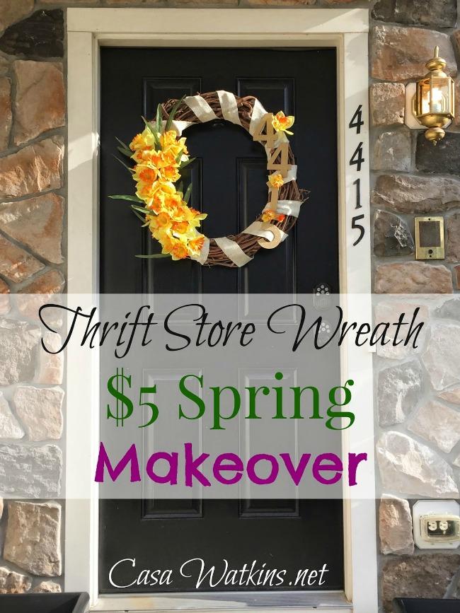 thrift store spring wreath
