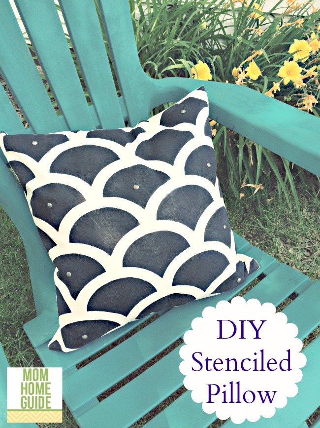 DIY stenciled pillows