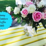 Sunny Outdoor Patio Table Makeover
