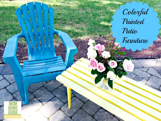 colorful painted patio furniture - Sunny Outdoor Patio Table Makeover
