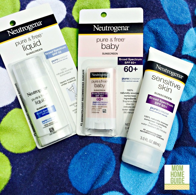 Neutrogena sunscreen products