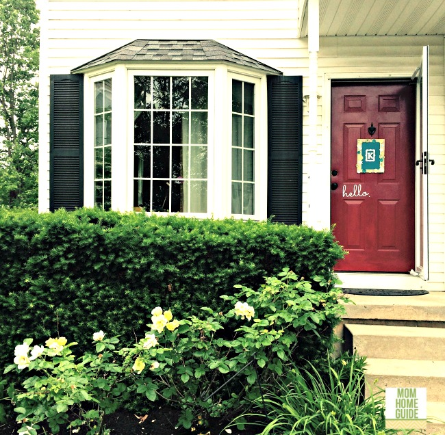 Modern Red Front Door: Front Door Makeover With Modern Masters