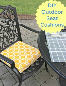 DIY outdoor seat cushions