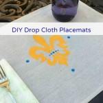 DIY Drop Cloth Placemats