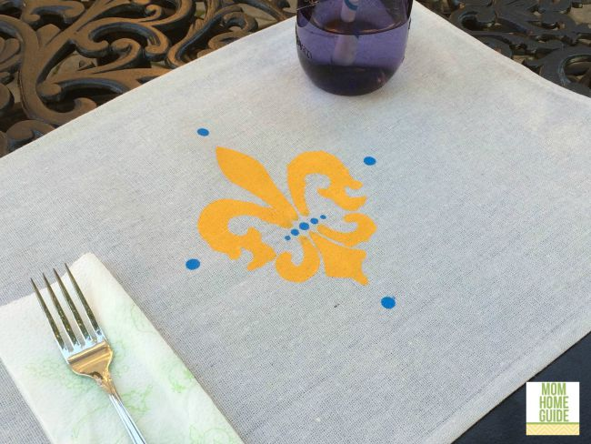 DIY drop cloth placemats