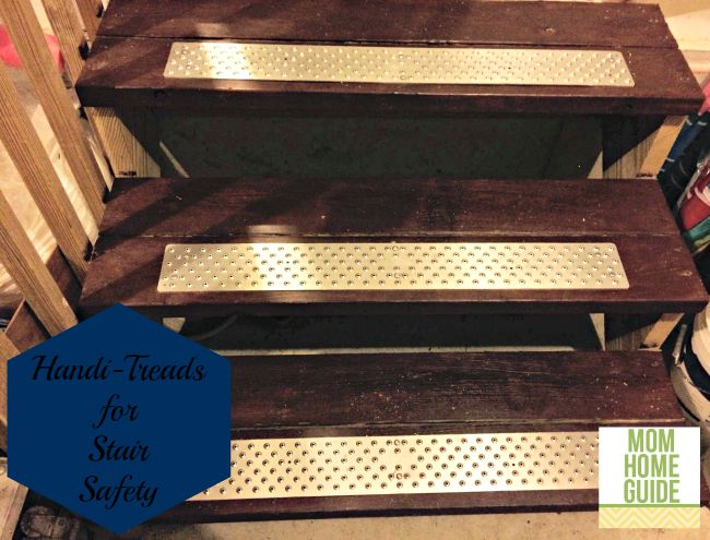 Handi-Treads provide a non-slip surface on stairs