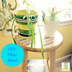 DIY Plant Stand from a Bar Stool