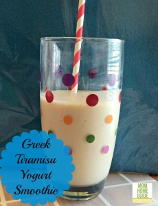 Greek Tiramisu Yogurt Smoothie #IHeartTiramisu
