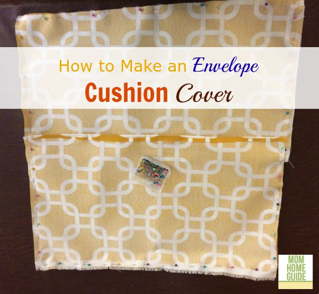 Step by step instructions on how to make a simple envelope cushion cover. This is a great way to get outdoor cushions for less!