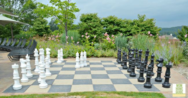 outdoor chess at Grand Cascades Lodge