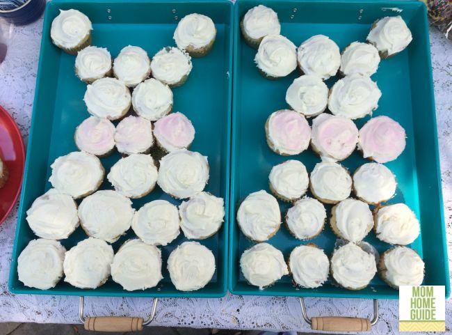 wedding dress cupcakes