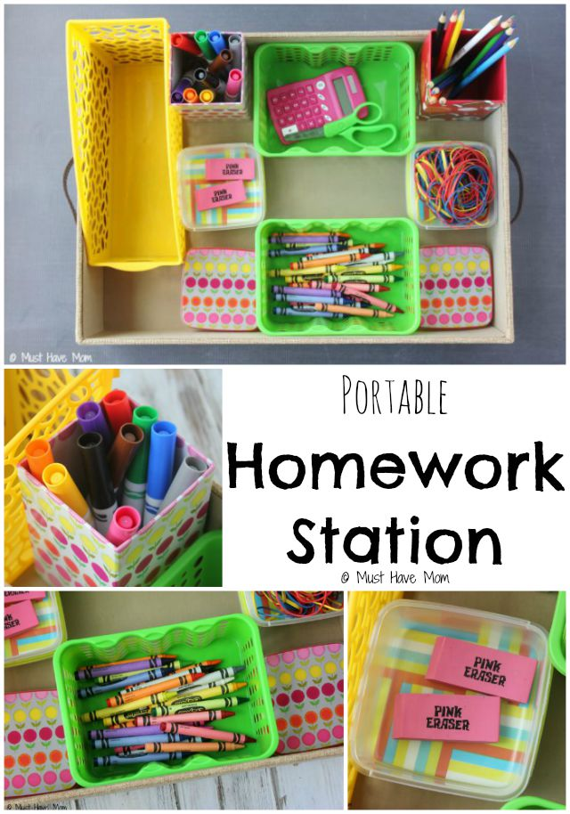Portable Homework Station by Must Have Mom