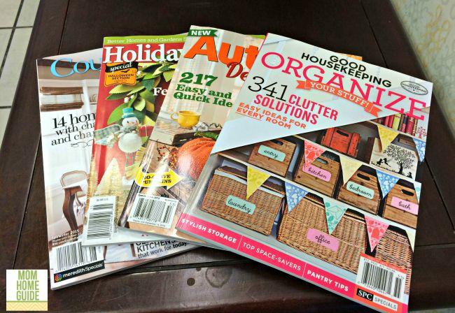 Reading magazines at Barnes & Noble