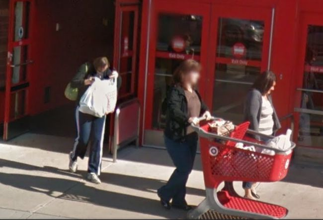 Me in front of Target on Google Earth