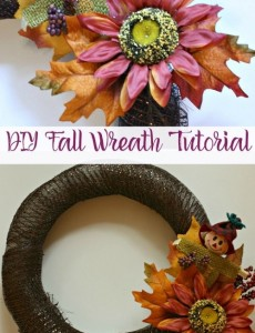 Holiday Craftacular Link Up: DIY Fall Wreath