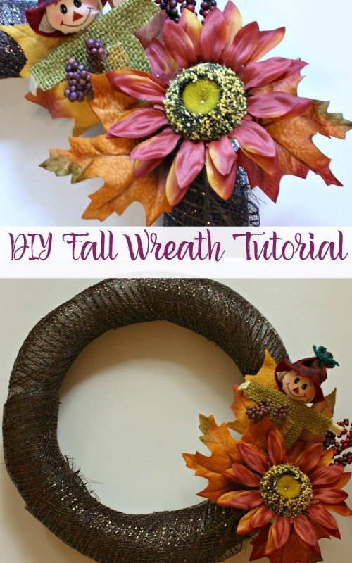 Follow this tutorial to make your own easy DIY fall wreath!