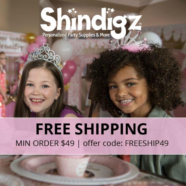 free shipping at Shindigz