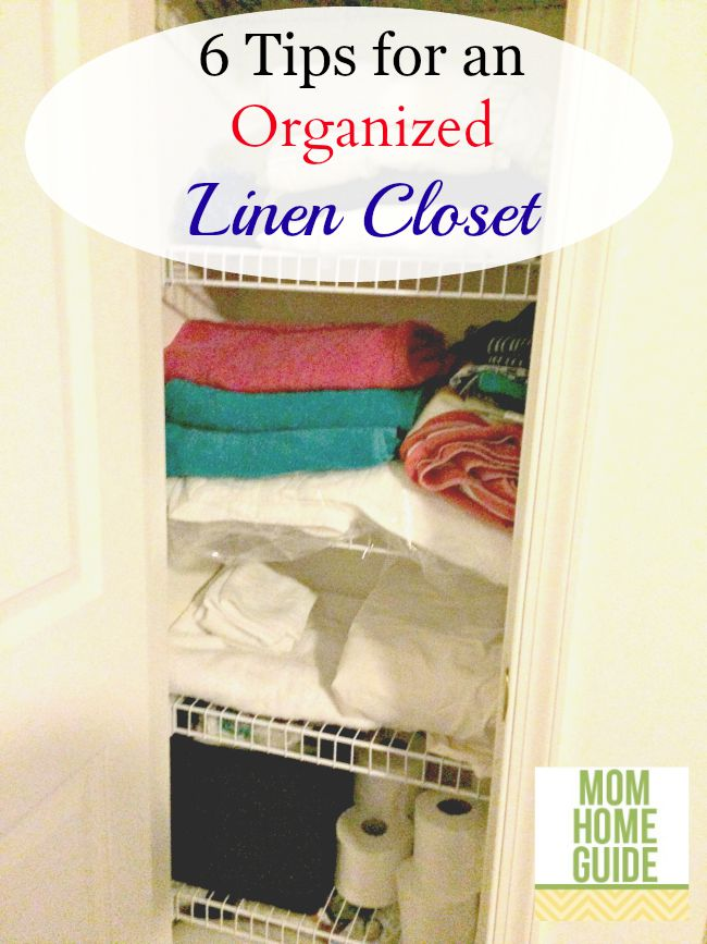 6 tips for an organized linen closet