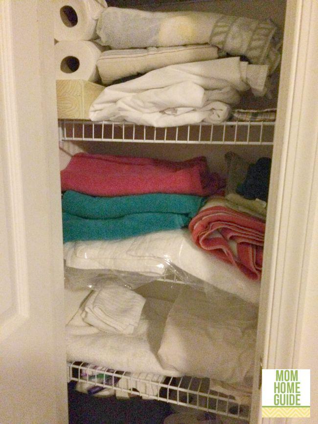 an organized linen closet