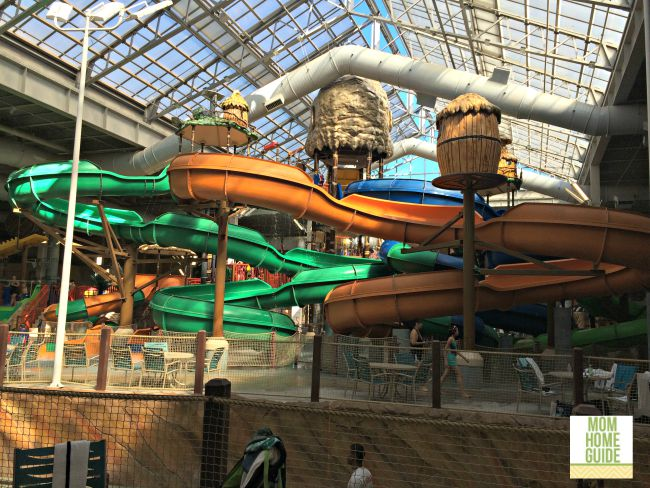 The Kalahari resort in the Poconos has lots of water slides!