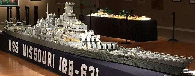 The USS Missouri, created out of LEGOS!