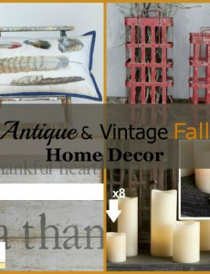 Love this beautiful antique and vintage fall decor from antiquefarmhouse.com!