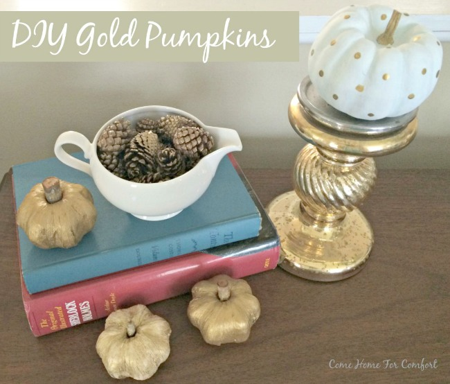 DIY gold pumpkins