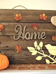 DIY Thanksgiving wooden sign